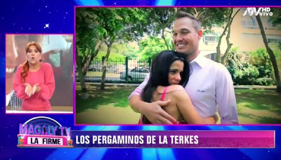 Magaly Medina critica a Vanessa Terkes por no tramitar su divorcio con George Forsyth. (Foto: Captura ATV)