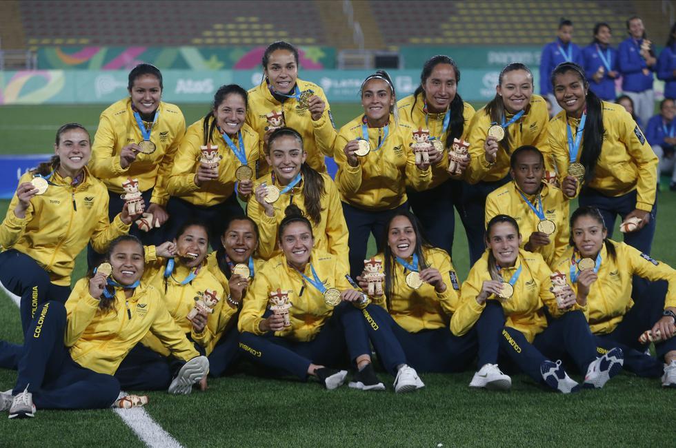 Colombia venció a Argentina en la tanda de penales tras haber igualado 1-1 en la final de fútbol femenino en Lima 2019 | Foto: Lima 2019