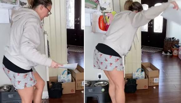 Una mujer sufrió un doloroso percance mientras intentaba hacer funcionar el nuevo hoverboard de su sobrina en Navidad | Captura de video / YouTube ViralHog