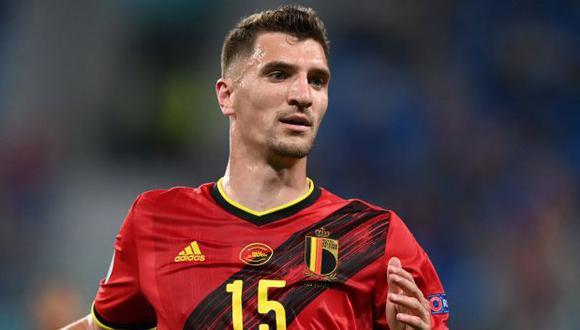 Thomas Meunier jugó los tres partidos de fase de grupos de la Eurocopa 2021. (Foto: AFP)