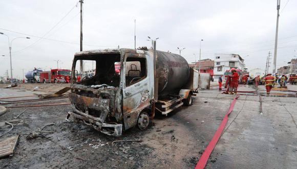 Tras la deflagración, el Organismo Supervisor de la Inversión de Energía y Minería (Osinergmin) suspendió el otorgamiento de autorizaciones de transporte de GLP por 90 días. (Foto: GEC)