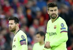 """Barcelona sufrió """"un bloqueo mental, pero también faltó fútbol"""" ante Liverpool, según Gerard Piqué"""