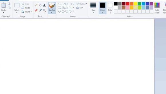 Anteriormente conocido como Paintbrush, el editor de imágenes Paint ha acompañado a Microsoft Windows desde su versión 1.0. (Foto: Captura de pantalla)