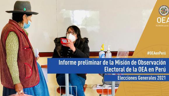 En el documento también planteó algunas recomendaciones, de cara a la segunda vuelta que se llevará a cabo el próximo 6 de junio. (Foto: OEA)