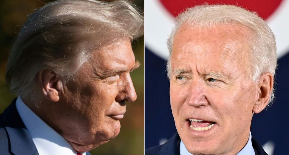 Joe Biden aventaja a Donald Trump en las encuestas en Estados Unidos. (Fotos: SAUL LOEB y JIM WATSON / AFP).