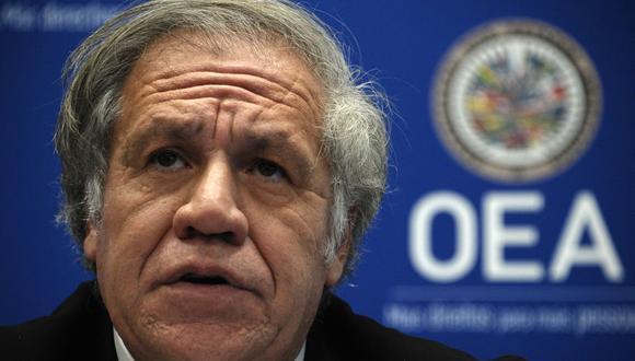 Luis Almagro, secretario general de la OEA. (Foto: EVA HAMBACH / AFP).