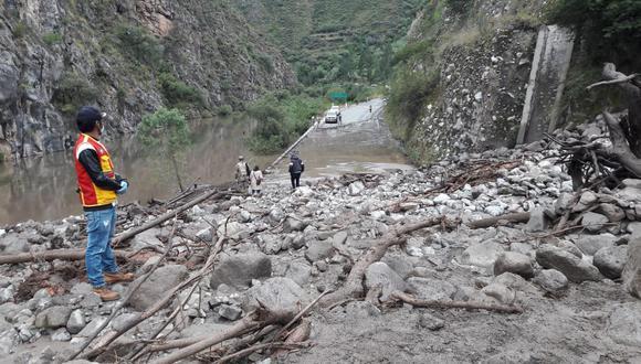 Este incidente se produjo la noche del domingo 3 de mayo luego que las constantes lluvias provocaran el desembalse parcial de la laguna Charahuaylla alta, que se ubica en el distrito de Capaya provincia de Aymaraes en la región Apurímac. (Foto: Municipalidad de Aymaraes).