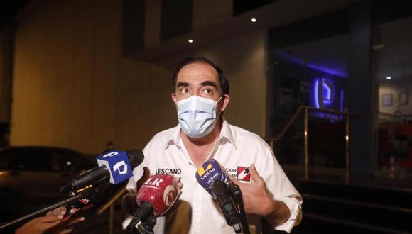 Yonhy Lescano defendió los lineamientos generales que ha presentado sobre su plan de gobierno. (Foto: Joel Alonzo / @photo.gec)