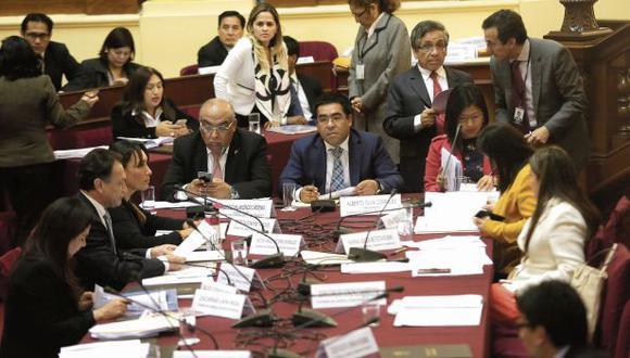 Hace dos semanas, en la Comisión de Justicia se aprobó por unanimidad el dictamen que busca tipificar en el Código Penal el financiamiento ilegal de organizaciones políticas. (Foto: Anthony Niño de Guzmán)