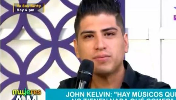 John Kelvin se quiebra por situación que afrontan los artistas en pandemia. (Foto: captura de video)