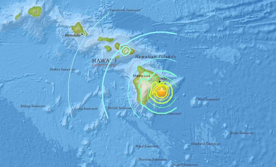 Un terremoto de magnitud 6,9 sacudió Hawái durante erupción del volcán Kilauea. (Foto: USGS)