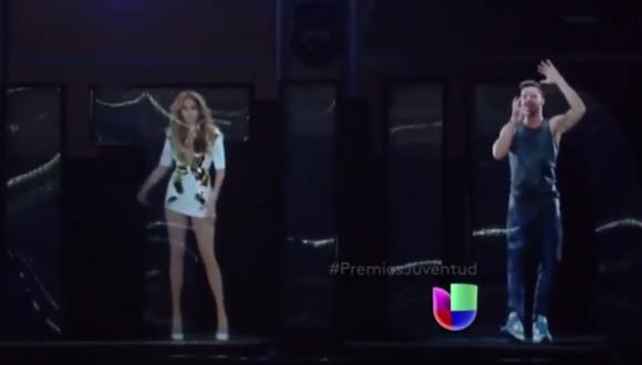 """Wisin cantó """"Adrenalina"""" con hologramas de J.Lo y Ricky Martin"""