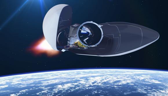 Representación digital del satélite Aeolus. (Foto: AFP)