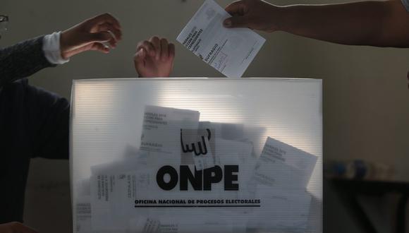 Elecciones. (Foto referencial: Archivo de El Comercio)