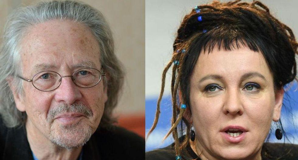 Handke y Tokarczuk, ambos europeos, se han hecho con el máximo galardón literario. (AFP)
