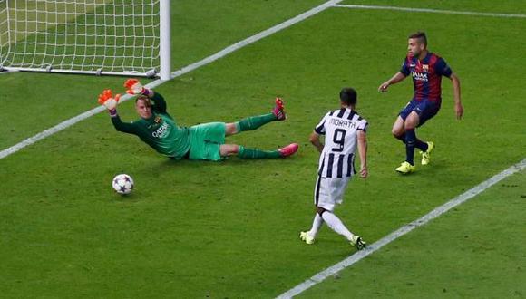 Juventus: Álvaro Morata y el gol del empate ante Barcelona