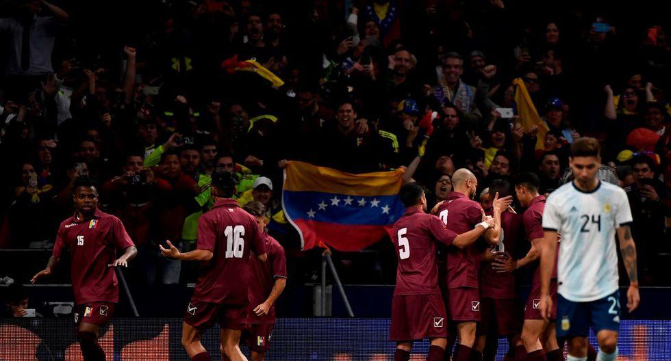 Argentina fue superada de principio a fin por una sólida selección de Venezuela en el Wanda Metropolitano de Madrid. Lionel Messi no destacó en el juego. (Foto: Olé)