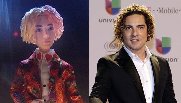 El parecido entre el muñeco de V y el cantante David Bisbal se convirtió en tendencia en Twitter. (Foto: Difusión/Agencia)