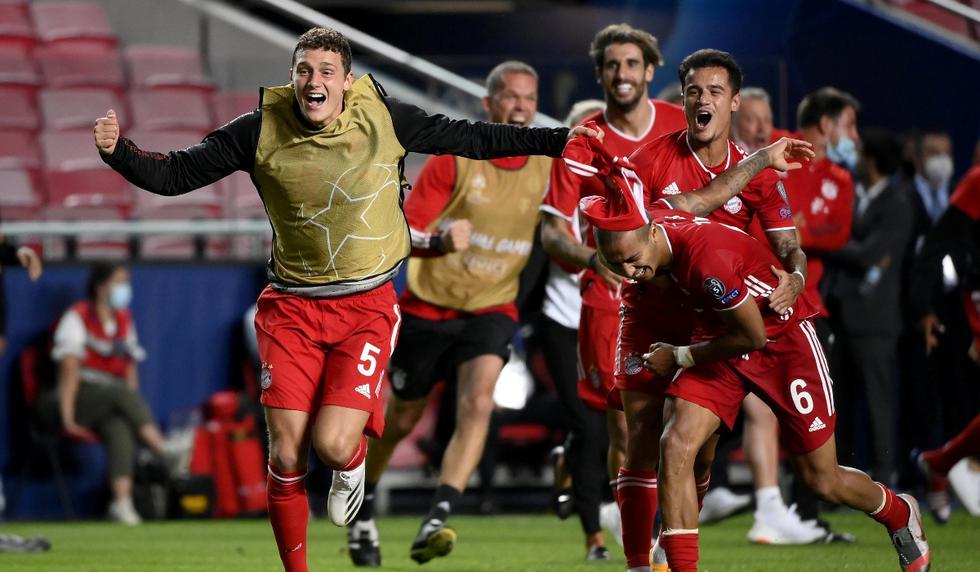 La celebración de los jugadores del Bayern Múnich tras el pitido final | Foto: REUTERS