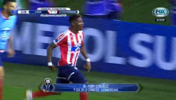 Junior igualó el marcador gracias a Yony González | Foto: captura