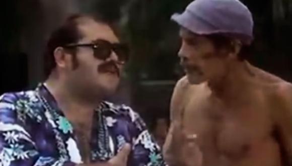 """Señor Barriga revela una escena perdida en las """"Vacaciones en Acapulco"""" del Chavo del 8.  (Foto: Twitter/@epjirafales)"""