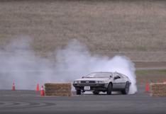 El sorprendente DeLorean que hace drift de forma autónoma   VIDEO
