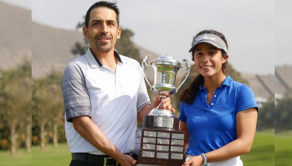 Los dos ganadores del Campeonato de Aficionados: Jean y Camina. (Foto: Angélica Díaz  / Federación Peruana de Golf)