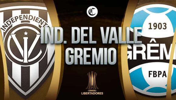 Independiente del Valle juega ante Gremio en el duelo de ida por la Fase 3 de Copa Libertadores | Foto: Diseño EC