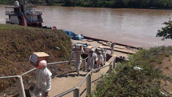 Loreto: entregan más de 99 toneladas en alimentos para 87 comunidades indígenas en Morona (Foto: Qali Warma)