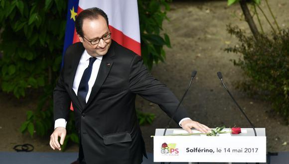 """""""Atravesamos crisis y mantuvimos el derrotero. Francia siguió siendo Francia"""", manifestó Francois Hollande ante miembros del Partido Socialista. (Foto: AFP)"""