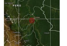 Sismo de magnitud 5,2 se registró esta tarde en Ucayali