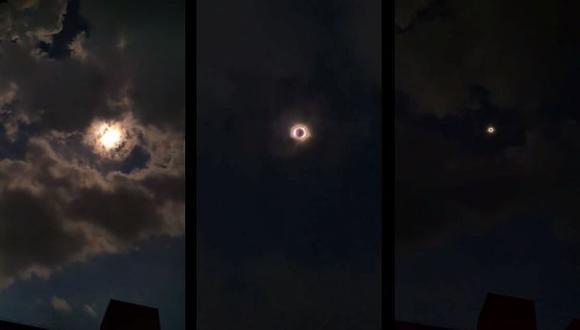 Filmar y fotografiar el eclipse era incluso recomendado, pero utilizando un filtro especial y un pequeño trípode que estabilice la imagen. (Foto: Facebook)