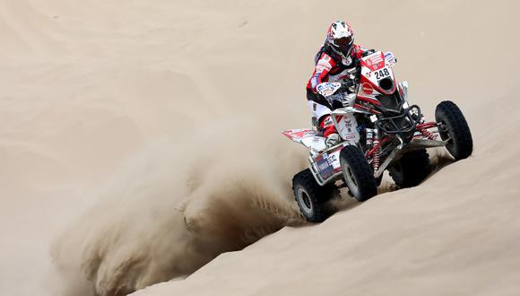 Alexis Hernández sigue remontando posiciones en el Dakar 2018. (Foto: ITEA Photo)