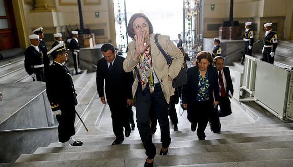 Ocho bancadas firman moción para censurar a ministra De Habich