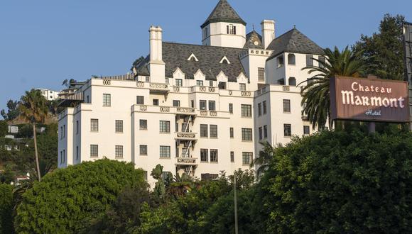 Vista del hotel Chateau Marmont en Sunset Strip, West Hollywood, California.  (Foto: VALERIE MACON / AFP)
