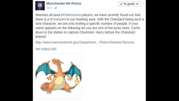 Facebook: Policía utiliza Pokémon Go para 'cazar' prófugos