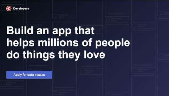 Pinterest lanzó su Plataforma para Desarrolladores