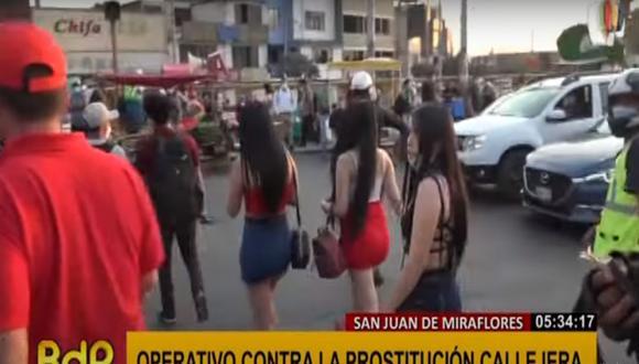 Las meretrices fueron llevadas a una comisaría de San Juan de Miraflores. (Foto: Buenos Días Perú)