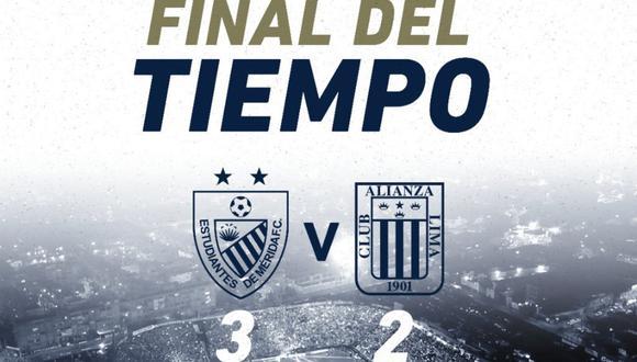 Alianza Lima perdió 3-2 contra Estudiantes de Mérida en Venezuela por la Copa Libertadores | Foto: Alianza Lima