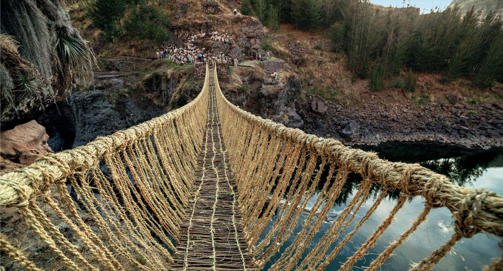 El puente de Q'eswachaka se encuentra a 180 km al sur de Cusco. (Foto: Enrique Nordt / PromPerú)