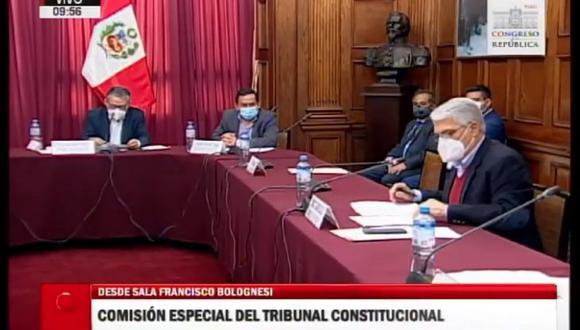 La Comisión especial del TC aprobó el cronograma para el proceso de selección (Captura: Congreso TV)