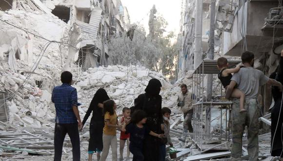 La guerra siria ha destruido más del 10% de los edificios históricos de Alepo. Foto: archivo AFP