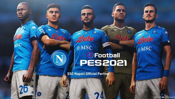El Napoli de Italia es el nuevo socio de PES. (Imagen: Konami)
