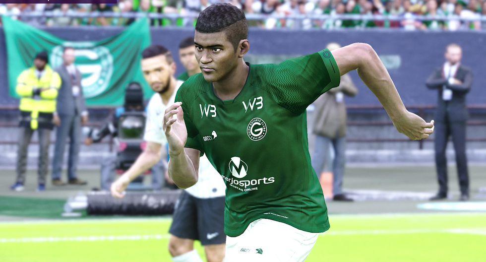 Kevin Quevedo con la camiseta de Goiás de Brasil. (Captura de pantalla)