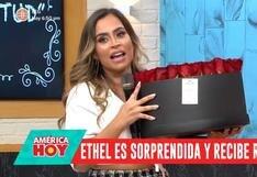 """Ethel Pozo recibió romántica sorpresa de su pareja en """"América Hoy"""""""