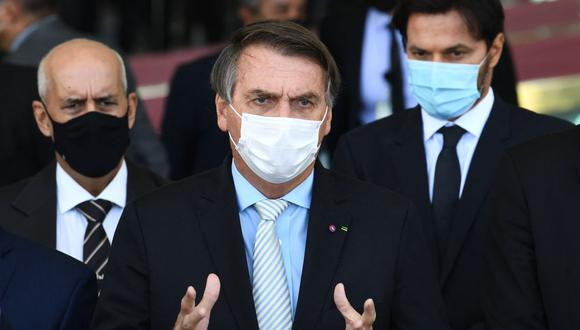 """Según la oposición, la conversación revela que Jair Bolsonaro intenta """"interferir"""" tanto en el Senado como en el Supremo ante las investigaciones que se vienen realizando por su gestión de la pandemia de coronavirus. (Archivo / EVARISTO SA/ AFP)."""