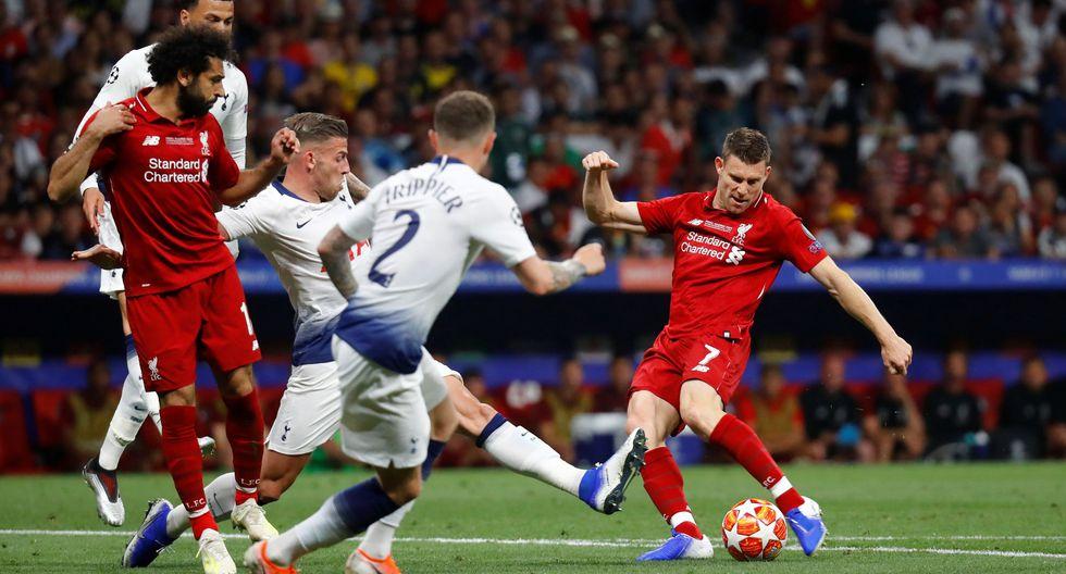 Liverpool vs. Tottenham EN VIVO: Milner y el remate que pudo ser el 2-0 tras gran jugada de Mané | VIDEO. (Foto: AFP)
