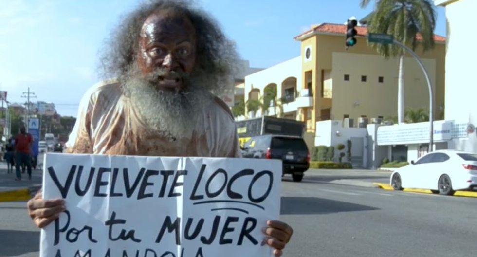 El 'loco' Jonás, el personaje más popular de Santo Domingo (República Dominicana) que promueve el respeto hacia las mujeres   Foto: Facebook / Jonas Ramos Baez