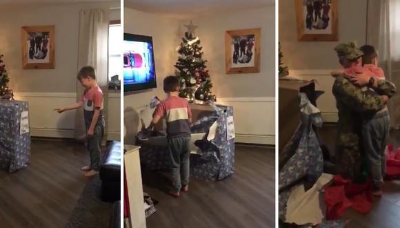 Un niño recibió por adelantado lo único que quería por Navidad y su reacción llenó de dicha los corazones de todos en Facebook. (Crédito: @JayRayy7 en Twitter)