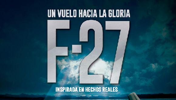 """Afiche de """"F-27"""", cinta basada en la tragedia de Alianza Lima"""